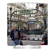 Entrance To The Paris Metro Shower Curtain