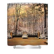 Entrance To Winter Shower Curtain