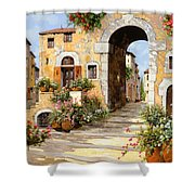 Entrata Al Borgo Shower Curtain