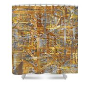 Entropia Shower Curtain