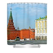 Entry Gate At Armory Museum Inside Kremlin Wall In Moscow-russia Shower Curtain