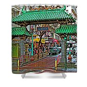 Entry Gate To Chinatown In San Francisco-california Shower Curtain