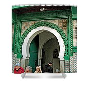 Entry To A Mosque For Men Only In Tangiers-morocco Shower Curtain