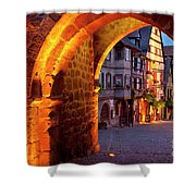Entry To Riquewihr Shower Curtain by Brian Jannsen