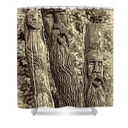 Ents Sepia Shower Curtain