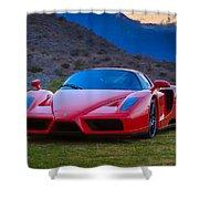 Enzo Ferrari Bold Shower Curtain