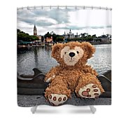 Epcot Bear Shower Curtain