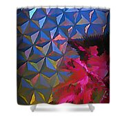 Epcot Centre Abstract Shower Curtain