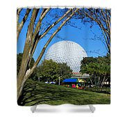 Epcot Globe Walt Disney World Shower Curtain