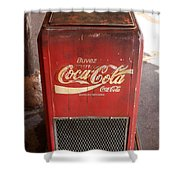 Epcot Old Coke Shower Curtain