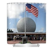 Epcot Usa Shower Curtain