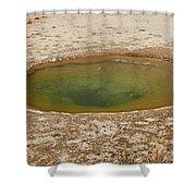 Ephedra Spring In West Thumb Geyser Basin Shower Curtain