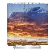 Epic Colorado Country Sunset Landscape Shower Curtain