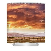 Epic Colorado Country Sunset Landscape Panorama Shower Curtain