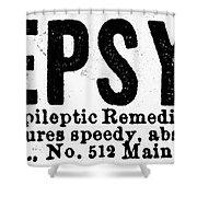 Epilepsy Treatment, 1878 Shower Curtain