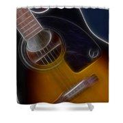 Epiphone Acoustic-9484-fractal Shower Curtain