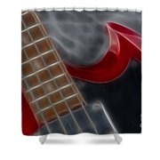 Epiphone Sg Bass-9205-fractal Shower Curtain