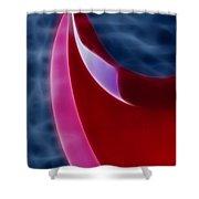 Epiphone Sg Bass-9215-fractal Shower Curtain