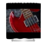 Epiphone Sg Bass-9222-fractal Shower Curtain