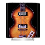Epiphone Viola Bass Guitar Shower Curtain