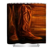 Equestrian Boots Shower Curtain