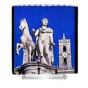 Equestrian Statue At Capitoline Hill Shower Curtain