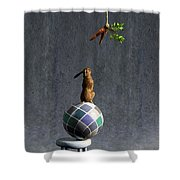 Equilibrium II Shower Curtain by Cynthia Decker
