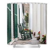 Equinox Hotel Columns Shower Curtain