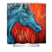 Equus Diabolus Diablo Shower Curtain