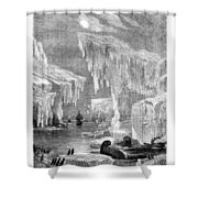Erebus And Terror In The Ice 1866 Shower Curtain