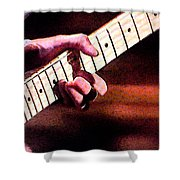 Eric Clapton Playing Guitar Shower Curtain