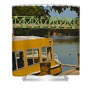 Erie Canal At Pittsford Ny Shower Curtain