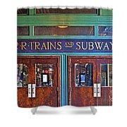 Erie Lackawanna Terminal Doors Hoboken Shower Curtain