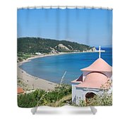 Erikousa Beach Shower Curtain