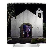 Ermita San Telmo. Puerto De La Cruz By Night Shower Curtain