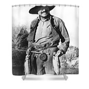 Ernest Hemingway Fishing Shower Curtain