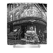 Ernst Roebers Saloon - Manhattan - 1908 Shower Curtain by Daniel Hagerman