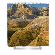 Eroded Buttes Badlands National Park Shower Curtain