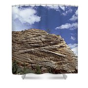 Eroded Sandstone Zion Np Utah Shower Curtain