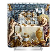 Eros And Psyche Shower Curtain