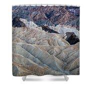 Erosional Landscape - Zabriskie Point Shower Curtain