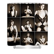 Erotic Beauty Collage 14 Shower Curtain