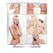 Erotic Beauty Collage 17 Shower Curtain