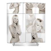 Erotic Beauty Collage 18 Shower Curtain