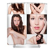 Erotic Beauty Collage 19 Shower Curtain
