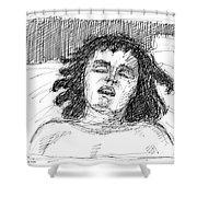 Erotic-drawings-24 Shower Curtain
