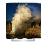 Eruption Along The Firehole Shower Curtain