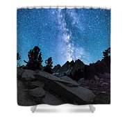 Eruption Of The Milky Way Shower Curtain