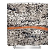 Eruption Residue Shower Curtain