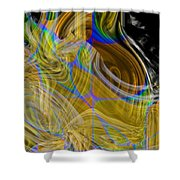 Eruptive Constructive Shower Curtain